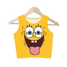 Sexy Anime Game Cosplay Sponge Sponge Bob Shirt Cos Funny Busty Girl Classic Games Figures Girl