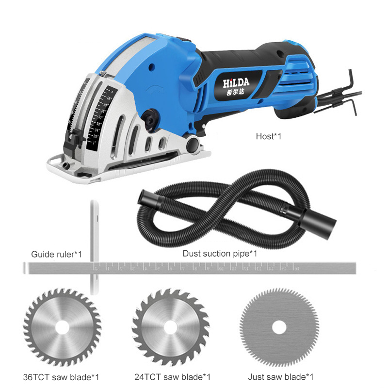 Acrylic Electric Circular Saw Power Tools Rotary Tool Circular Saw Blades With Slide Rails Multi Function Portable Chainsaw