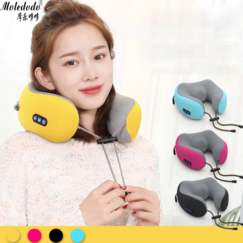 U-shaped Pillow Massager Vibration Shawl Cervical Electric Neck Waist Shoulder D5