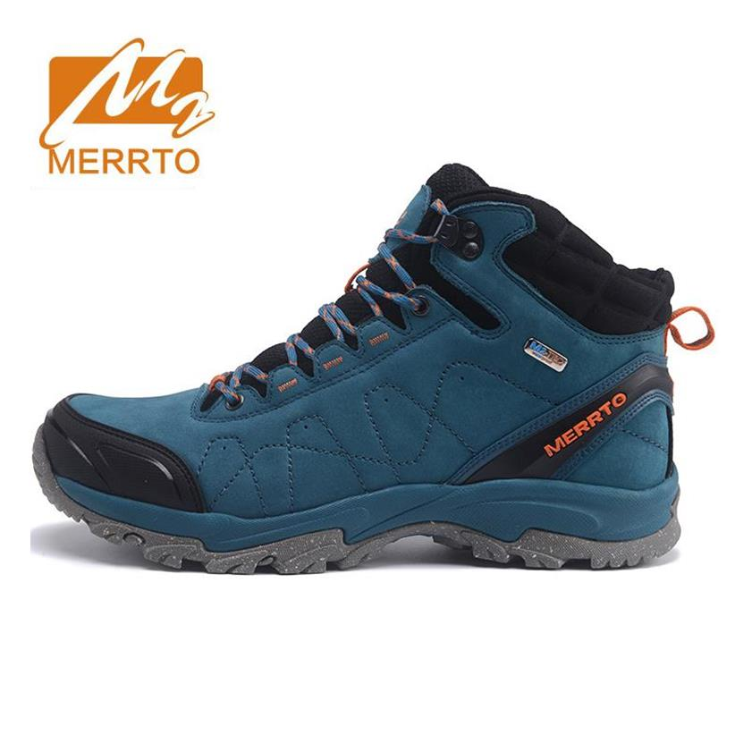 MERRTO Men's Winter & Fall Leather Waterproof Outdoor Hiking Trekking Boots Shoes Sneakers For Men Climbing Mountain Boots Shoes camssoo men s winter outdoor trekking hiking boots shoes for men warm leather climbing mountain boots shoes man outventure