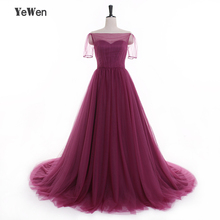 Big Skirt Simple beach A line Evening dresses Long 2017 Purple Floor Length short sleeves Pregnant Dresses prom dress plus size