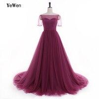 Big Skirt Simple beach A line Evening dresses Long 2018 Purple Floor Length short sleeves Pregnant Dresses prom dress plus size