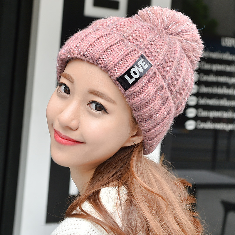 South Korea mixed color knitted hat thick warm winter cap children of Korean men and women winter color ball wool cap rakesh kumar tiwari and rajendra prasad ojha conformation and stability of mixed dna triplex