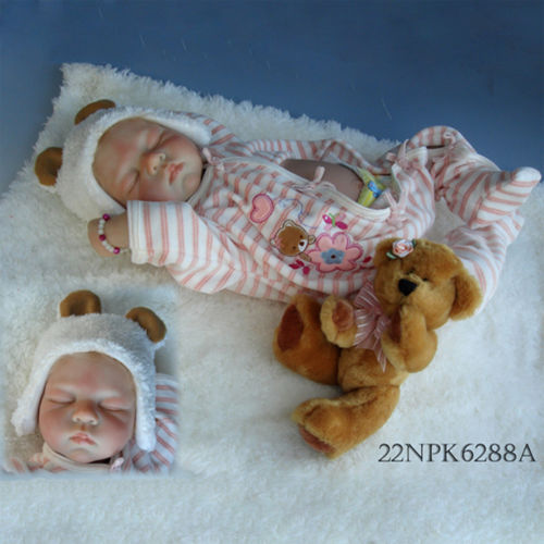 Reborn Baby Doll Soft Silicone Girl Toy 22in. 55cm Sleep Baby Doll for Children Gifts кукла 44271926101 usa berenguer reborn baby doll