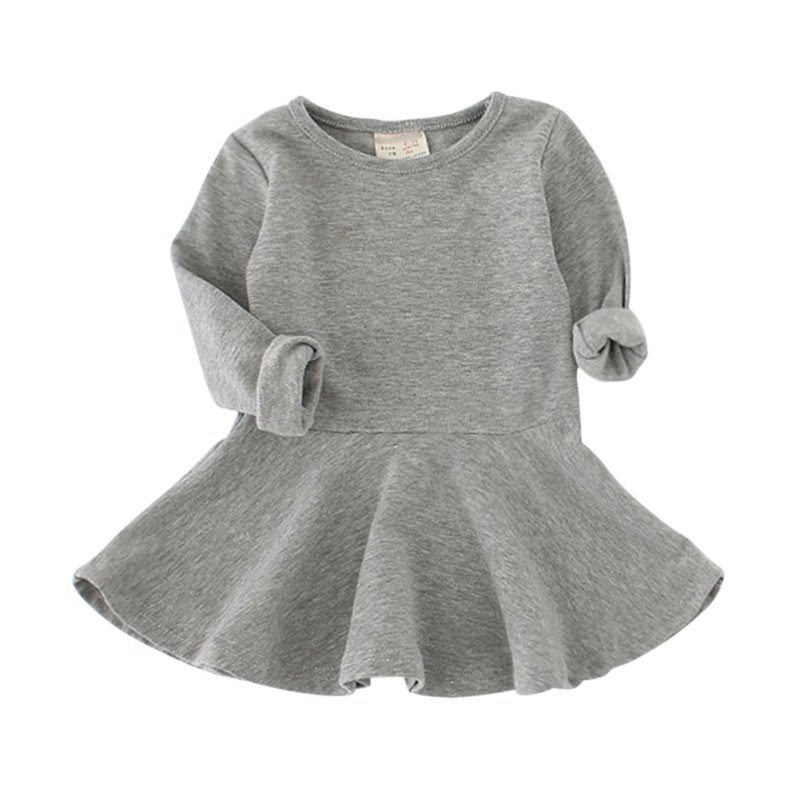 Candy Color Baby Girl Dress Children Clothing Children Dress Spring Autumn Girl Cute Dress Baby Products New 2016 summer girl dress character candy color baby girl dress children clothing children vestido 1 3 years girls dress