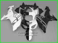 Половина белый черный Обтекатели Для Kawasaki Ninja ZX10r 2006 2007 06 07 100% fit Лучшее качество Впрыска Обтекатель комплект x123