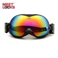 MEETLOCKS Ojo Gafas 100% de Protección UV400 gafas de Sol de Invierno Lente Capítulo de TPU de Doble Anti-vaho y Anti-Ultravioleta Al Aire Libre y Advantures
