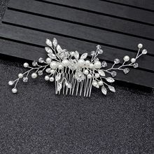 Silver Bridal Headwear Crystal Pearl Wedding Accessories Hair Combs Simple Elegant New Bridal Headpiece 2019