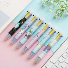 24 pcs/Lot Rainbow unicorn multi color ballpoint pens 0.5mm Spot liner Stationery Office accessories school supplies FB828