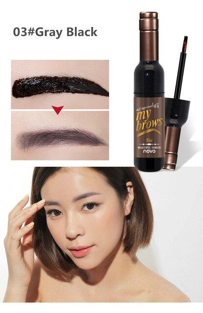 Peel-off Tattoo Eyebrow Gel Long-lasting Dye Tinted Brow Cream Waterproof Paint Makeup Eye Tint Cosmetics Black Brown Eyebrows 5