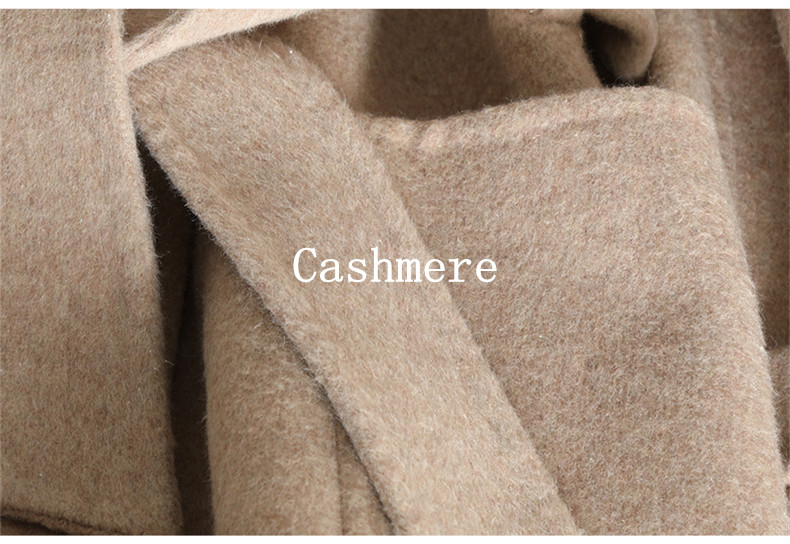 QIAN SI CHEN 19 Autumn New 100% Cashmere Coat Alpaca Warm Winter Coat Women Long Wool Coat Office Lady Slim Female Overcoat 12