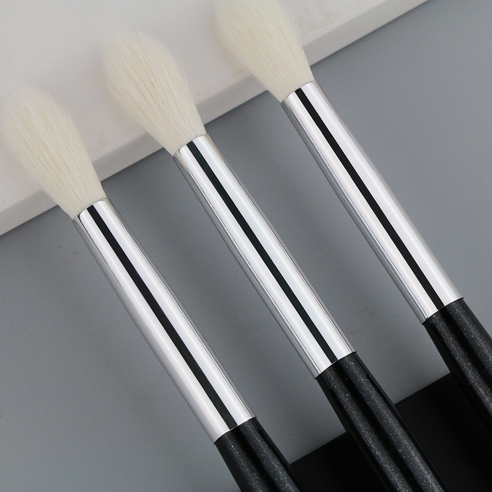 BEILI X06 Black Eye Shadow Tampered blending Concealer Natural Goat Hair Makeup Brushes 7