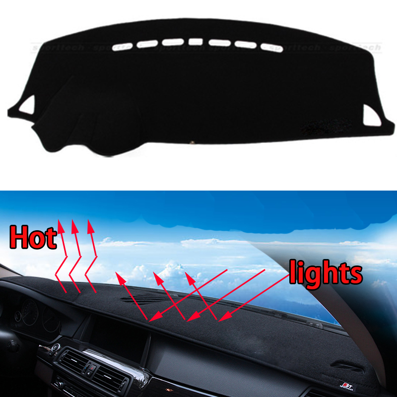 Car dashboard Avoid light pad Instrument platform desk cover Mats Carpets Auto accessories car styling for Mitsubishi LANCER-EX special car trunk mats for toyota all models corolla camry rav4 auris prius yalis avensis 2014 accessories car styling auto