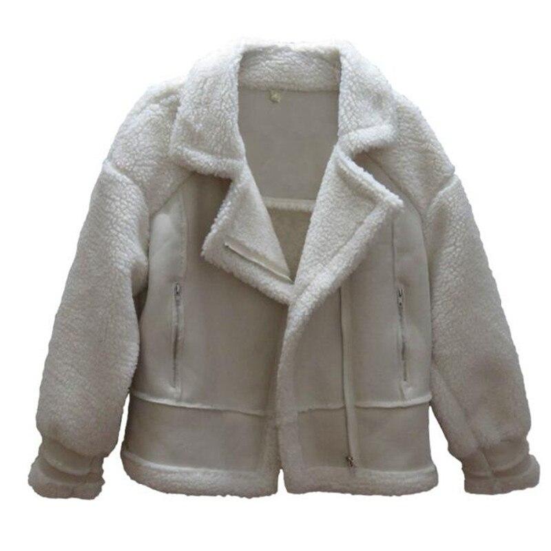 Daim Beige marron D'agneau Épaissir rose Automne Fourrure Casual Veste gris Tissu Coton Chaud Laine Surcoat Mode Manteau hiver Une Mince pvpqTxa