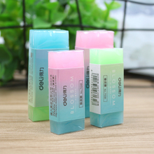 Deli Soft Durable Flexible Cube Cute Colored Pencil Rubber Erasers For School Kids