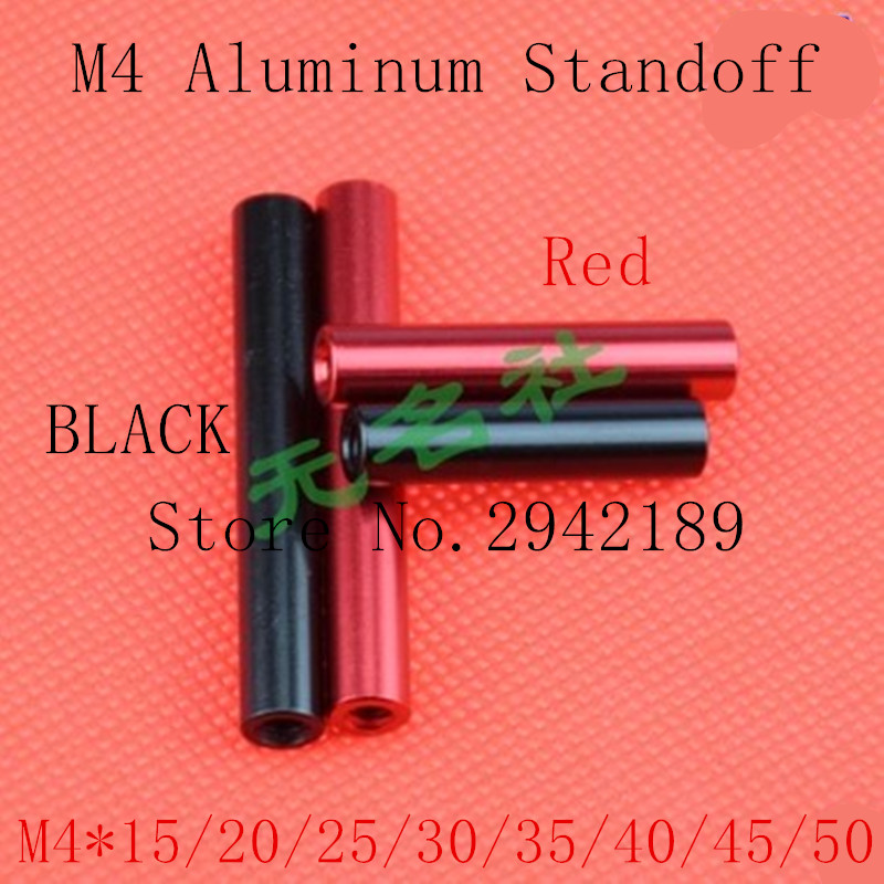 10pcs/lot m4 aluminum spacer M4*15/20/25/30/35/40/45/50 black or Red anodizing aluminum round standoff spacer long nut 10pcs m3 round aluminum alloy long nut studs standoffs fastener 8 10 15 20 25 30 35mm page 5