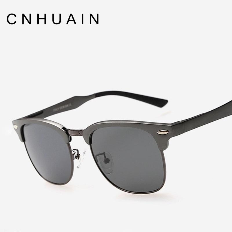 Designer Glasses Half Frame : CNHUAIN Grade Aluminum Magnesium Half Frame Polarized ...