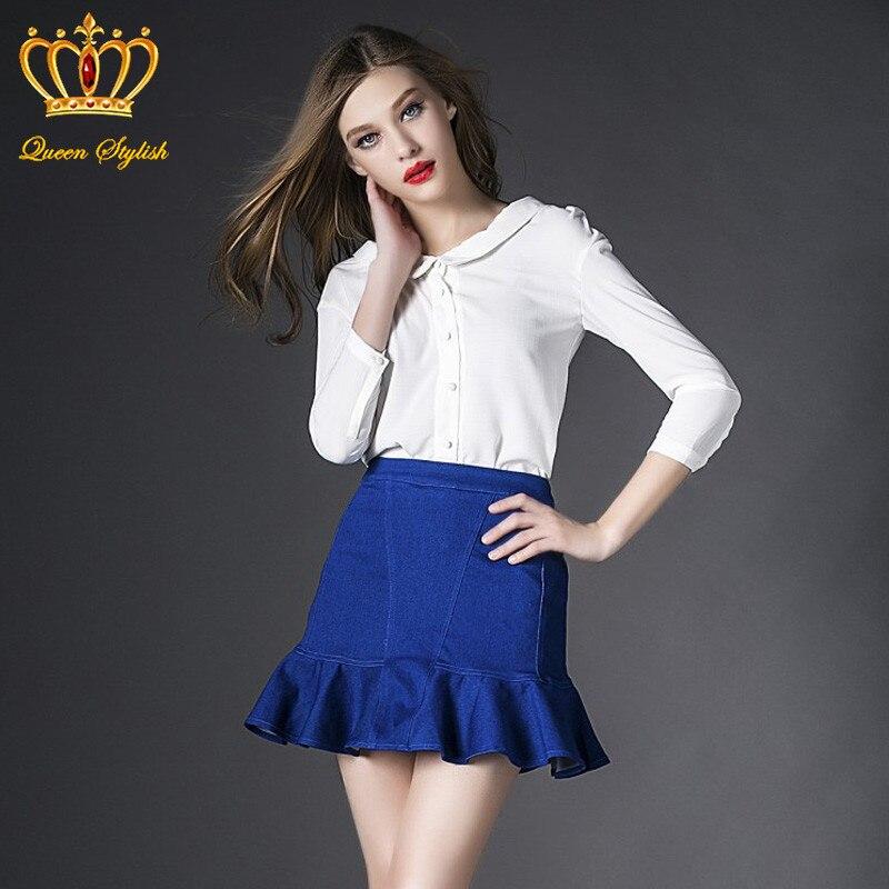 White denim skirt ladies – Fashionable skirts 2017 photo blog
