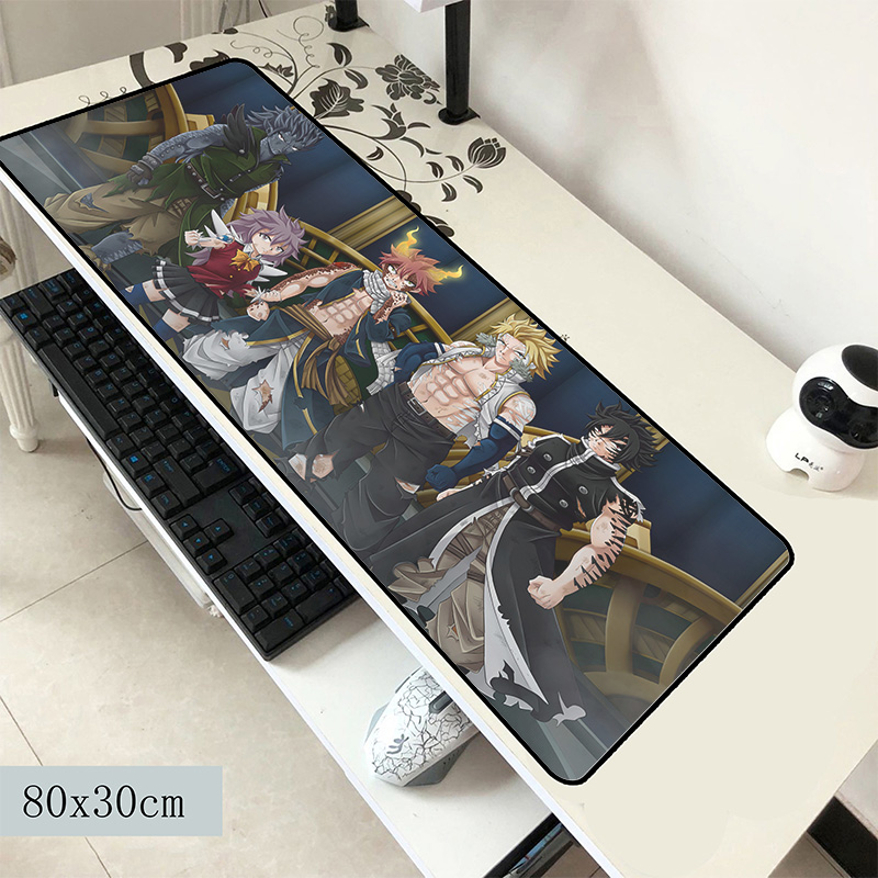 Fairy Tail Mouse Pad 800x300x2mm Mats Birthday Computer Mouse Mat Gaming Accessories Domineering Mousepad Keyboard Adorable