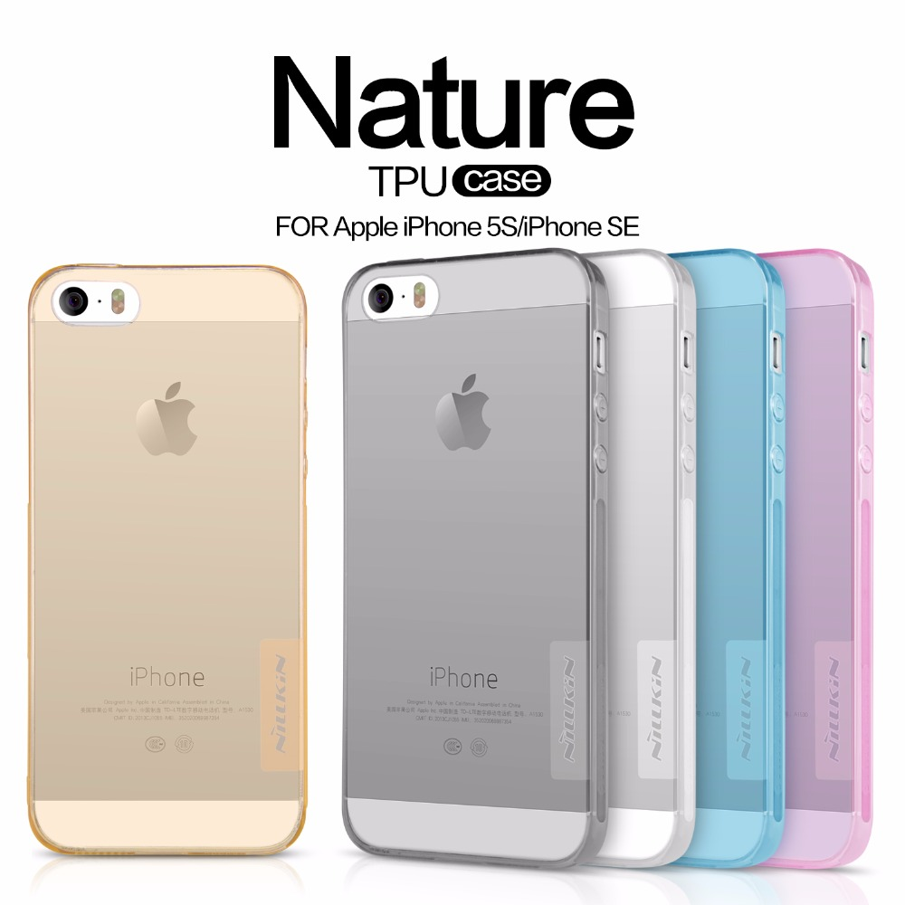 TPU Transparent soft case for Apple iphone SE 5 5S 5E 5SE NILLKIN Nature Series Luxury brand back cover with retailed package
