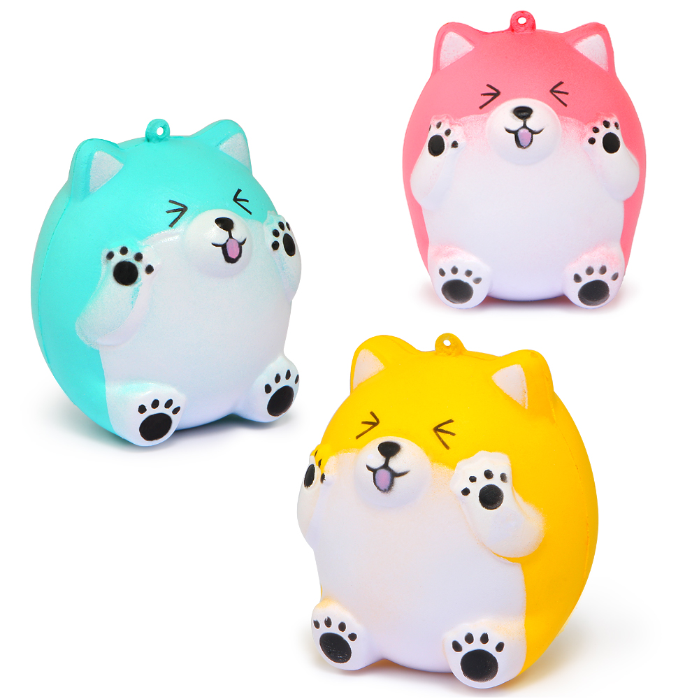 Lovely Cute Kawaii New Cartoon Squishy Bear Hamster Cream Scented Squishes Squeeze Toy Strap Funny Gadgets Anti Stress GiftsToys