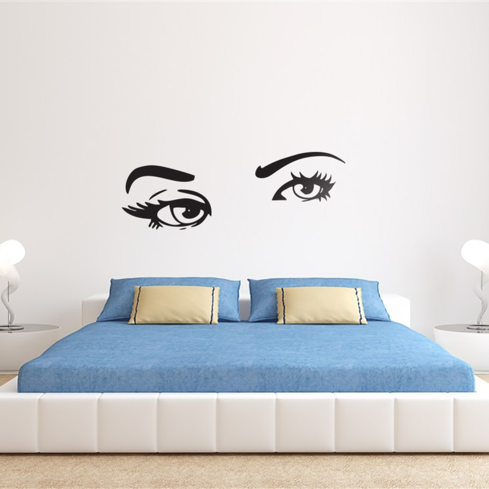 Beautiful Big Eyes Wall Art Sticker Decor Removable Wall Stickers Decal  78x225cm Vinyl Decal Stickers(