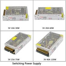 Regulated Switching Power Supply DC3V 10A/20A/25A/40A 180W Swich Driver Transformer AC110V 220V to DC 3v For LED Strip Light CNC