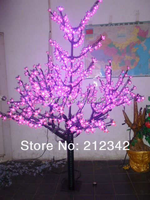 64LED Bulbs,1.8m/6FT Height, 110/220VAC, IP65 Waterproof, LED Christmas Light Cherry Tree Outdoor Decoration Lamp Pink - Manufacturer: Starlight New Energy Co., Ltd. store