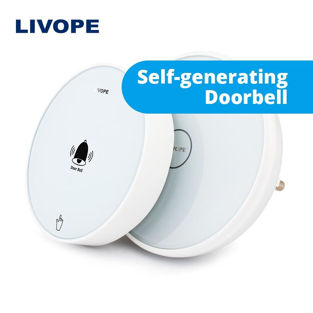 Ding Dong LIVOPE toque de campainha eletrônica Sem Fio, wi-fi inteligente chamando sino, com a Luz da Noite, sem bateria, anel campainha sem fio