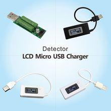 ЖК-дисплей Micro USB зарядное устройство Емкость батареи Напряжение Ток тестер метр детектор черный/белый цвет+ нагрузочный резистор 2A/1A с переключателем