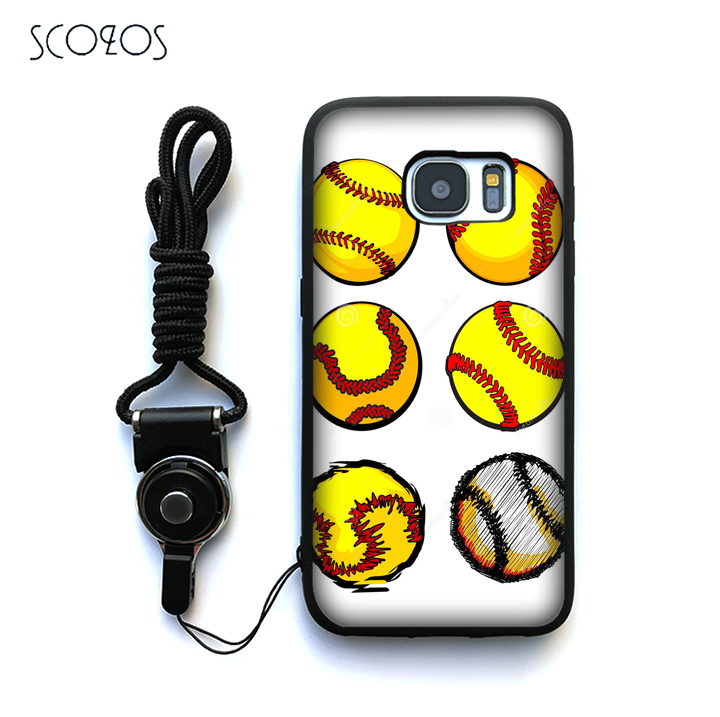 Phone Bags & Cases Scozos Yellow Softball Ball Images Soft Case Cover For Samsung Galaxy S6 S7 S7 Edge S8 S8 Plus J3 J5 J7 A3 A5 A7 2016 Note 8 And Digestion Helping