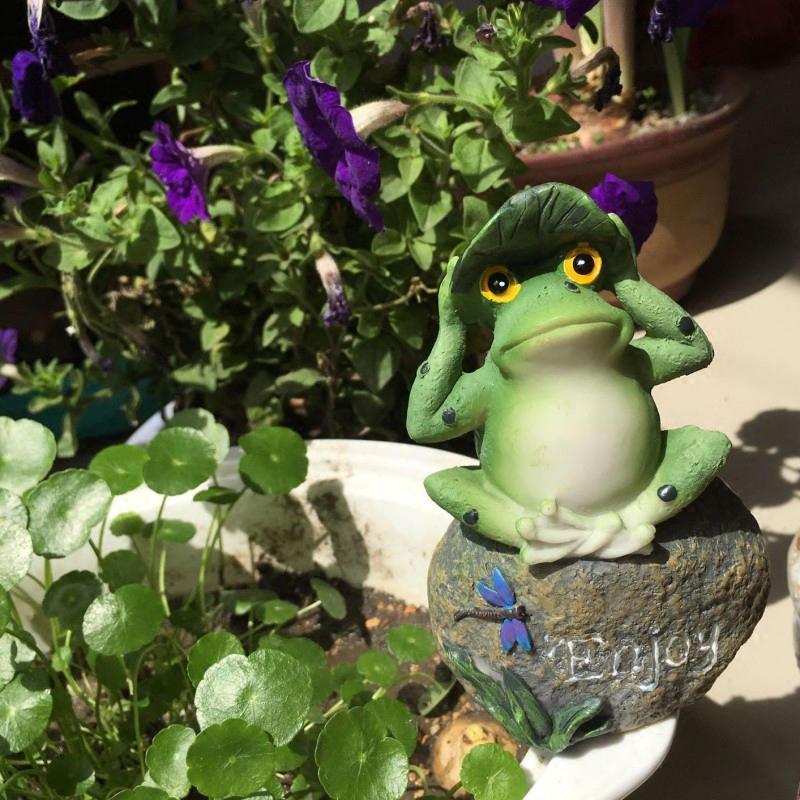 Aliexpress Cute Frog Decorative Stone Garden Statues And Ornaments Outdoor Lawn Yard Cartoon Animal Gnome Art Accessories Decor Accents From