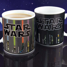Star Wars Fans Magic Coffee Mug 300ml Personalized Magic Lightsaber Color Changing Mug