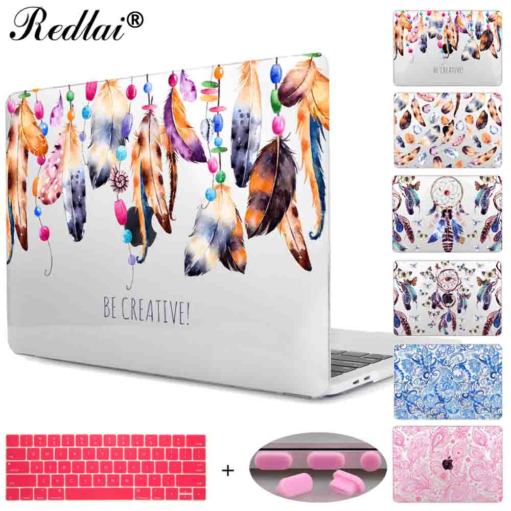Case For Macbook Pro 13 15 w/out Touch bar A1706 A1707 Cover Beautiful Floral Seamless Hard Case For Mac Air Pro Retina 11 13 15