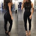 Black and Red Color Women's Full Length Bodycon Sexy Jumpsuit HL Bandage Celebrity Jumpsuit