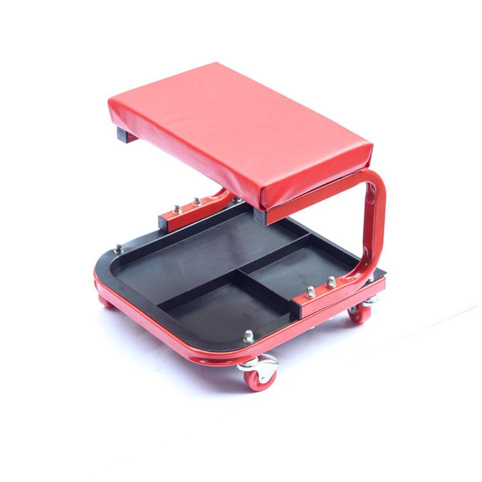 Siège de Garage pour application d'enveloppe de voiture, chaise de réparation de voiture rouge avec roues chaises de Sooper MO-601