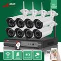 ANRAN 3TB HDD 8CH P2P HDMI 1080P WIFI NVR 36IR Waterproof Outdoor Wireless IP Camera Surveillance CCTV Video Security System