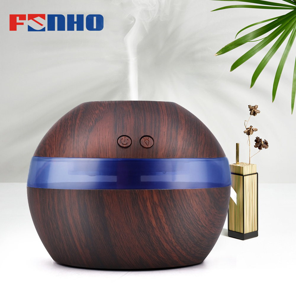 FUNHO 300ml Air Aroma Humidifier Essential Oil Diffuser Aromatherapy Night Light Ultrasonic Classic Mist Maker For