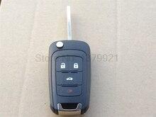 Флип Дистанционный Ключ Чехол 4 Кнопки для CHEVROLET Malibu Cruze Aveo Автомобиль Сигнализации Корпуса Автозапуск Fob Крышка
