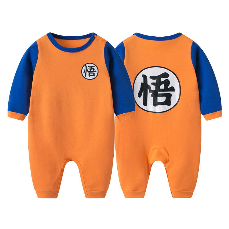 17945ff7f 100% Cotton Dragon Ball Baby Rompers Newborn Baby Boys Clothes SON GOKU  Toddler Jumpsuit Chinese Characters Printing Bebe Onesie-in Rompers from  Mother ...
