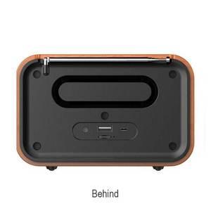 Image 4 - Holz Drahtlose Wecker Bluetooth Lautsprecher Multi funktionale Plug in Karte Computer Lautsprecher Tragbare Audio Und Video Ausrüstung