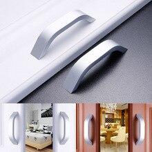 2 Pcs Aluminum Alloy Matte Modern Cabinet Door Knob Drawer Handle Door Pull LAD-sale