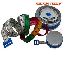 Высокое качество 0-150 см Алюминиевая ИМТ измерительная лента имт лента тела ИМТ калькулятор масса тела лента