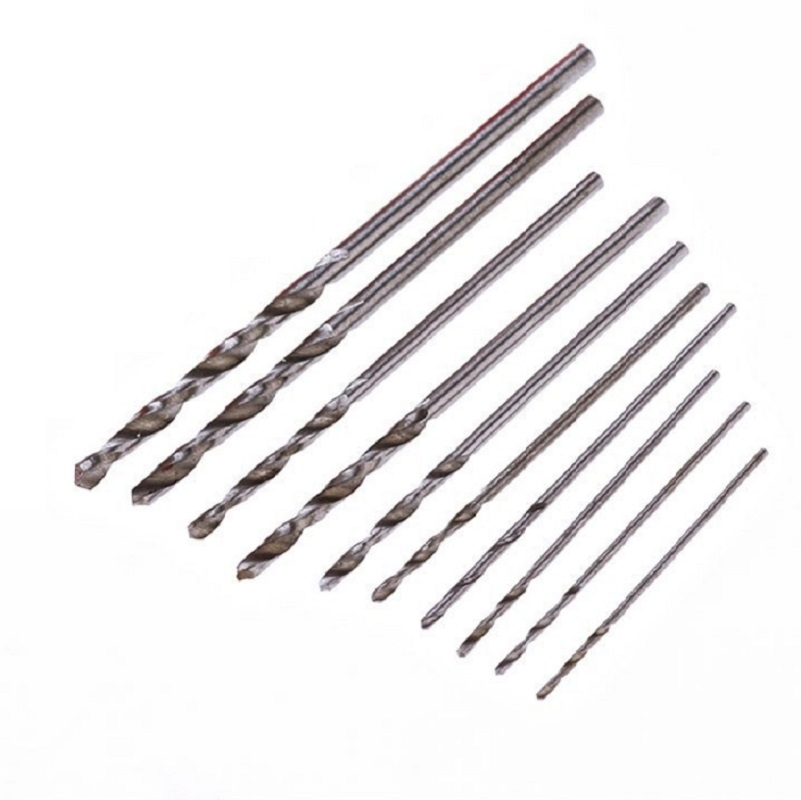 100pcs 10sizes Twist Drills Bits Set 0.5/0.6/0.7/0.8/0.9/1.0/1.2/1.4/1.6/1.8/2.0mm 4341
