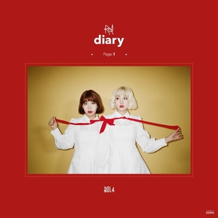 BOLBBALGAN4 Mini Album - RED DIARY PAGE.1  Release Date 2017.09.29 men s pu leather wedding flats new british men shoes fashion man pointed toe formal wedding shoes male dress shoes