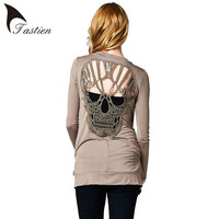 Skull Hollow Out Women Sweaters Knitted Long Sleeve Cardigans Spring Summer Thin Cardigans Sexy Blusas Mujer