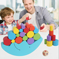 Montessori Brinquedos Para As Crianças Brinquedos Do Bebê Blocos de Equilíbrio Para a Primeira Infância Brinquedos De Madeira das Crianças Dos Pais Presentes de Natal Jogo