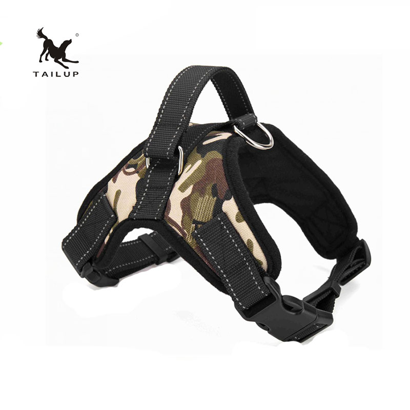 TAILUP Service Dog Leads For Walking Reflective Strap Pitbull Easy Work Dog Harness S / M / L / XL