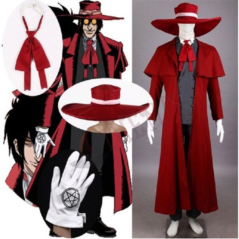 HELLSING Anime Alucard Vampire Hunter Tailored Cosplay Costume Ultimate Vampire Halloween Cosplay Costume Full Set Custom Made