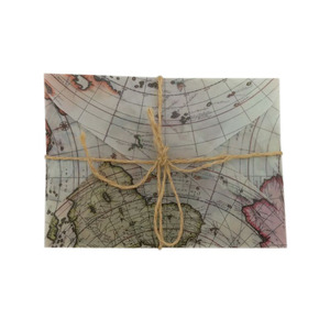 Image 4 - 100 Stks/partij Retro Europese Kaart Stijl Zwavelzuur Venster Envelop Brief Uitnodiging Wenskaarten Cover 110*155Mm Groothandel